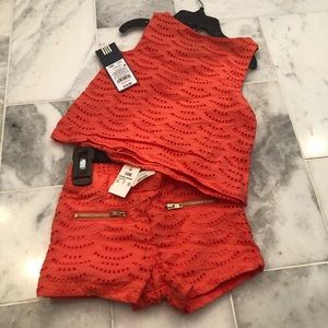 NWT Genuine Kids 2 piece Coral toddler out…